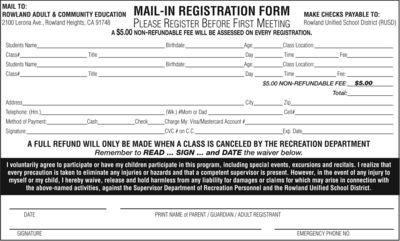 registration adult community education